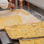 Home made pasta production at Restaurant Cesare
